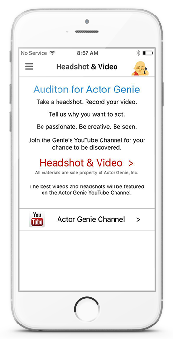 Actor Genie Headshot & Video